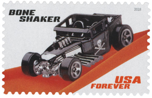 2018 First-Class Forever Stamp - Hot Wheels: Bone Shaker - 2006