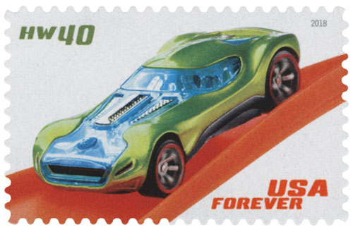 2018 First-Class Forever Stamp - Hot Wheels: HW40 - 2008
