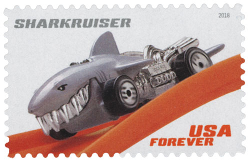 2018 First-Class Forever Stamp - Hot Wheels: Sharkruiser - 1987