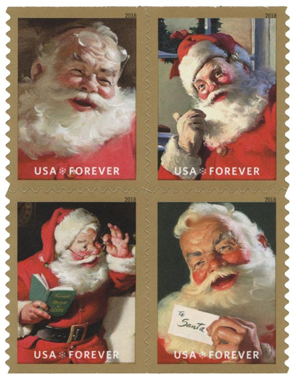 2018 First-Class Forever Stamp - Contemporary Christmas: Sparkling Holidays