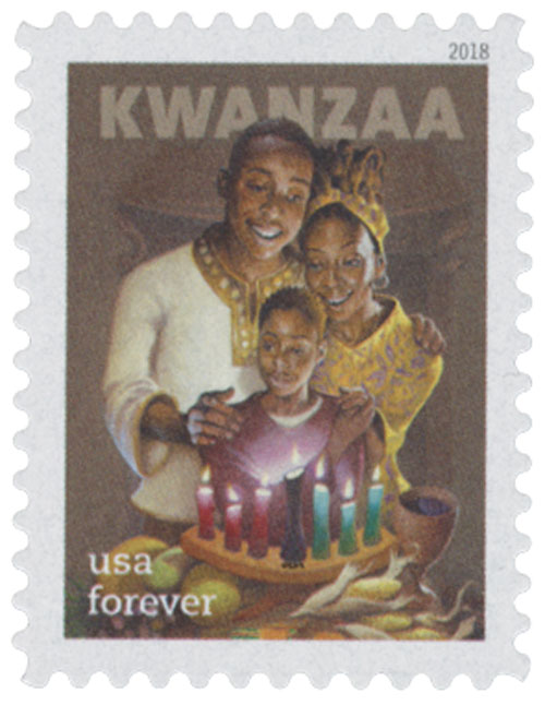 2018 First-Class Forever Stamp - Kwanzaa