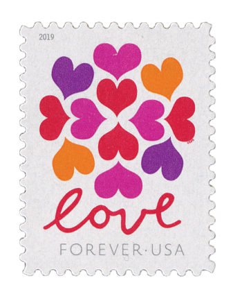 2019 First-Class Forever Stamp - Love Series: Heart Blossoms