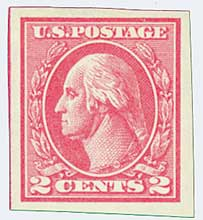 1920 2c Washington, carmine, type Va