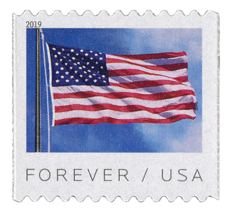 2019 First-Class Forever Stamp - US Flag (BCA coil)