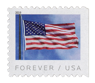 2019 First-Class Forever Stamp - US Flag (BCA booklet)