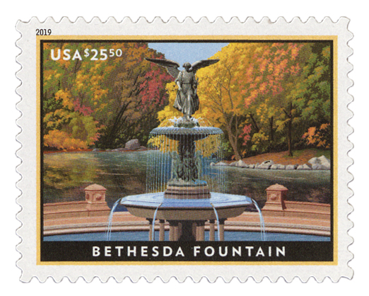 2019 $25.50 Bethesda Fountain, Express Mail