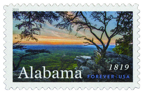 2019 First-Class Forever Stamp - Statehood: Alabama Bicentennial