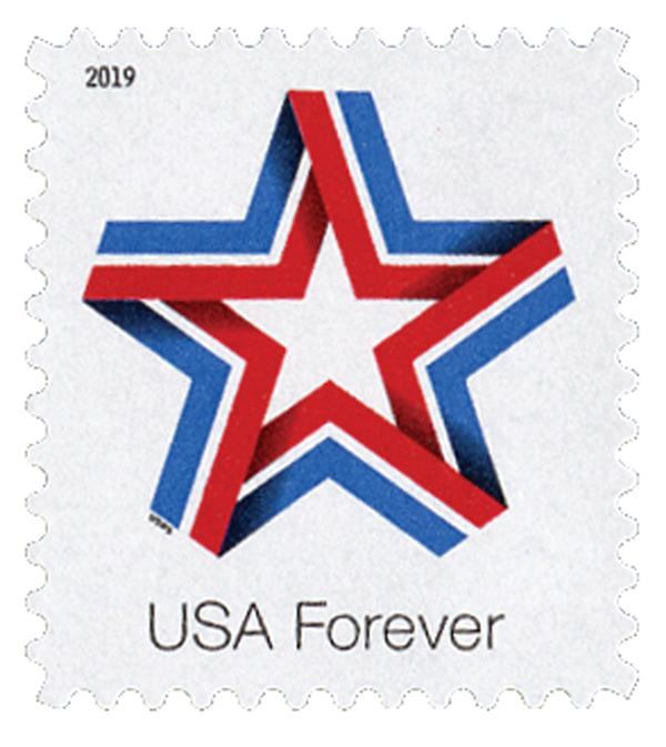 2019 First-Class Forever Stamp - Star Ribbon