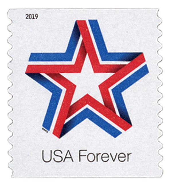 2019 First-Class Forever Stamp - Star Ribbon (coil)