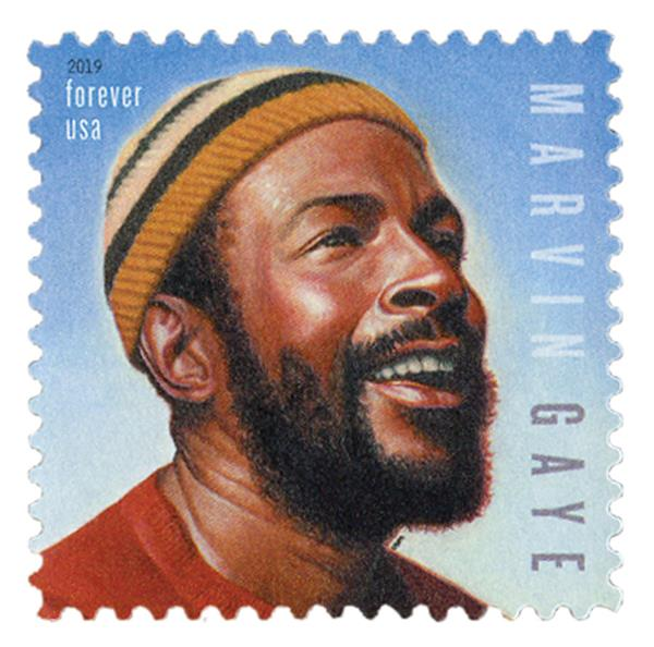 2019 First-Class Forever Stamp - Music Icons: Marvin Gaye