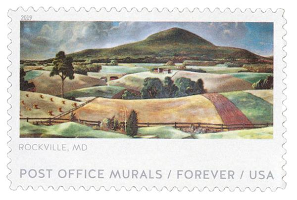 2019 First-Class Forever Stamp - Post Office Murals: 'Sugarloaf Mountain'