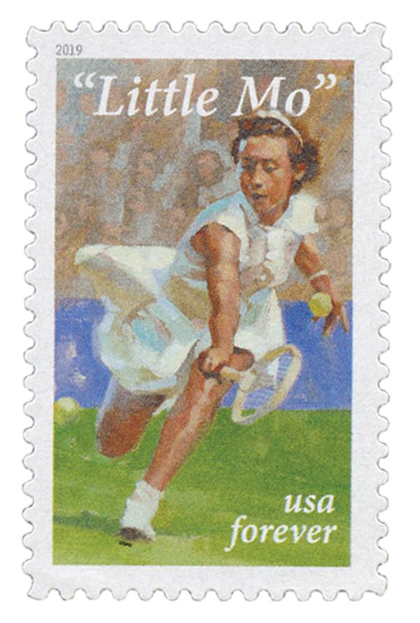 "2019 First-Class Forever Stamp - ""Little Mo,"" Maureen Connolly Brinker"