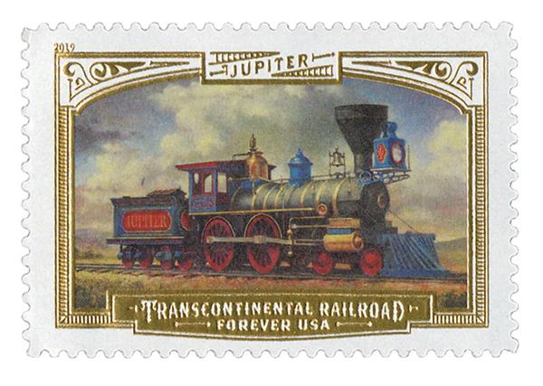 2019 First-Class Forever Stamp - Transcontinental Railroad: Jupiter Locomotive