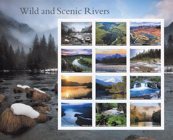 2019 First-Class Forever Stamp - Wild and Scenic Rivers