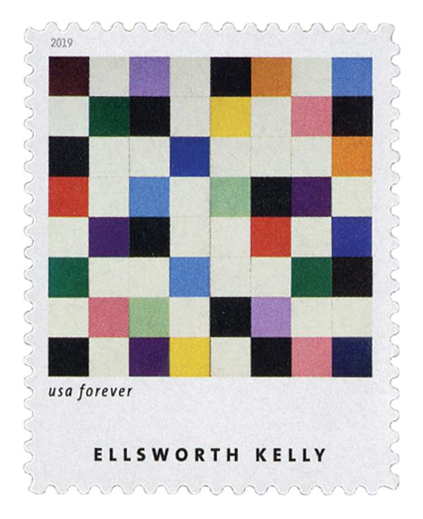 """2019 First-Class Forever Stamp - Ellsworth Kelly: """"Colors for a Large Wall"""""""