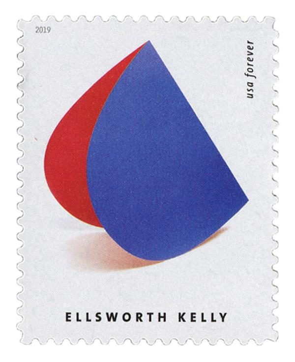 """2019 First-Class Forever Stamp - Ellsworth Kelly: """"Blue Red Rocker"""""""