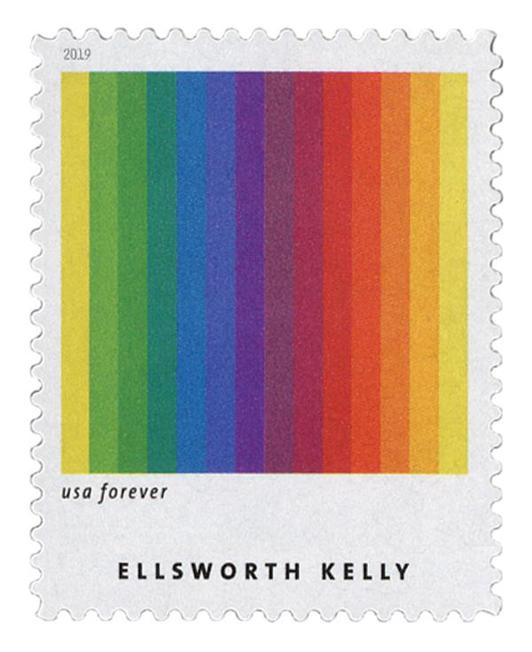 "2019 First-Class Forever Stamp - Ellsworth Kelly: ""Spectrum I"""
