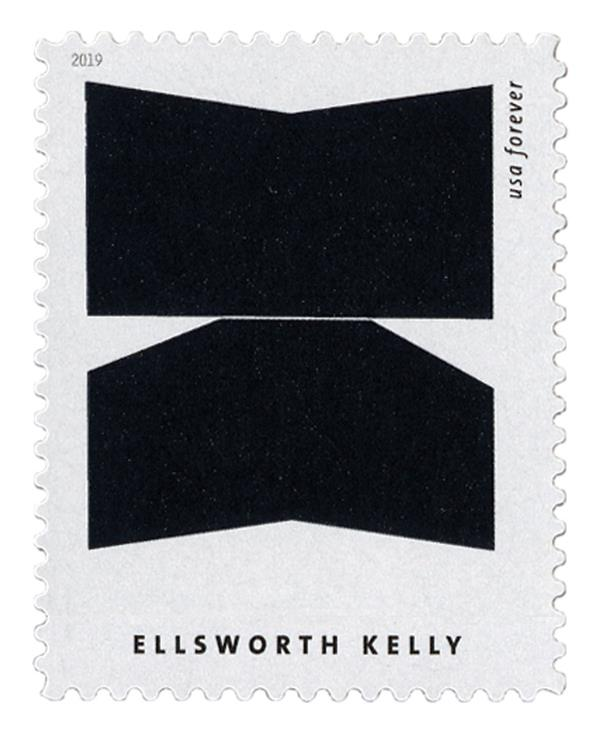 """2019 First-Class Forever Stamp - Ellsworth Kelly: """"South Ferry"""""""