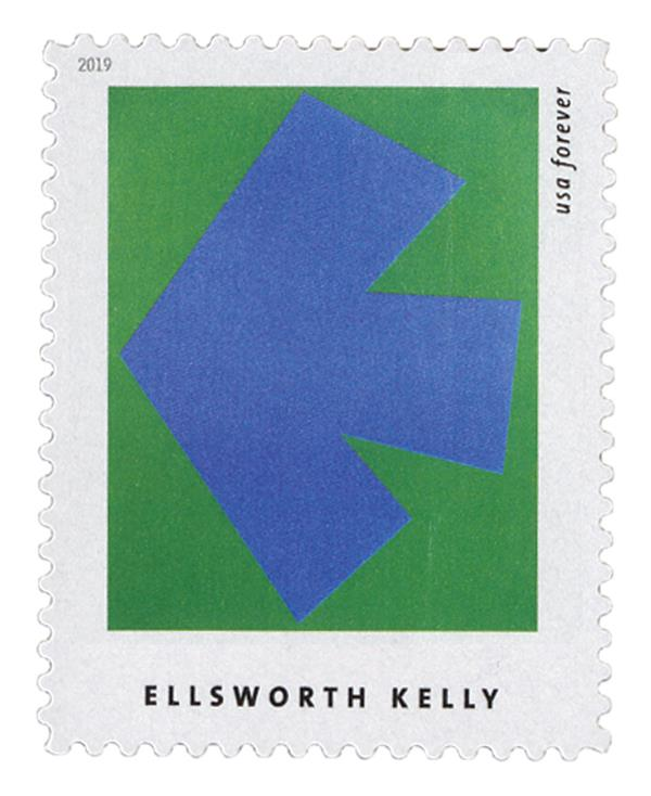 """2019 First-Class Forever Stamp - Ellsworth Kelly: """"Blue Green"""""""