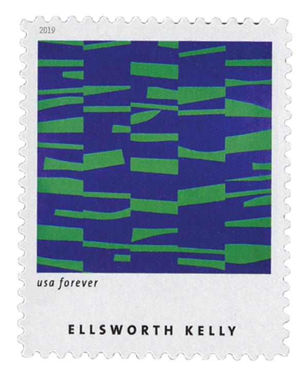 "2019 First-Class Forever Stamp - Ellsworth Kelly: ""Meschers"""