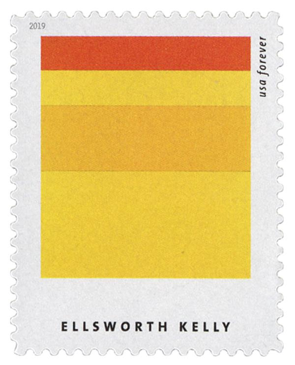 """2019 First-Class Forever Stamp - Ellsworth Kelly: """"Gaza"""""""