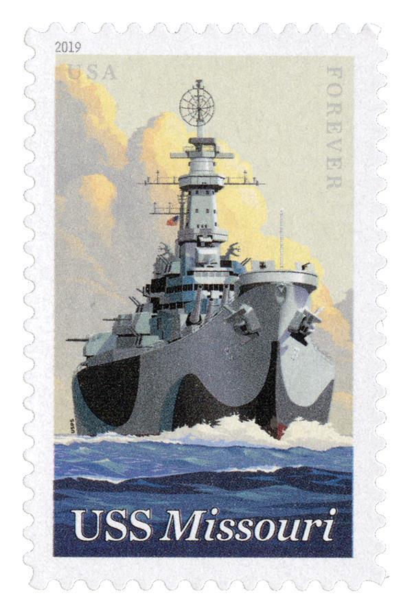 2019 55¢ USS Missouri  stamp