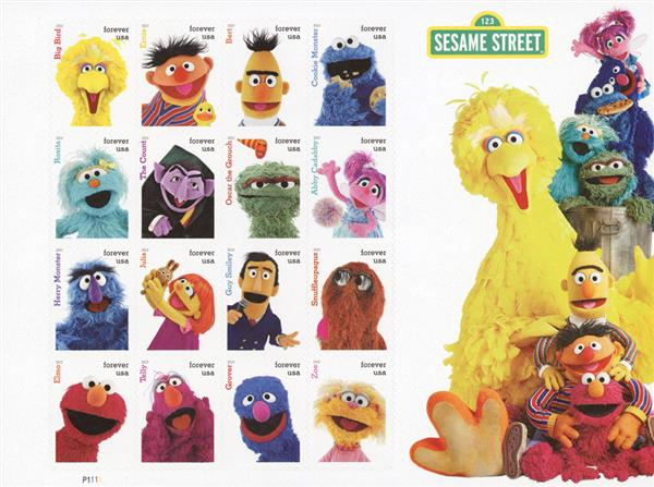 2019 First-Class Forever Stamp - Sesame Street