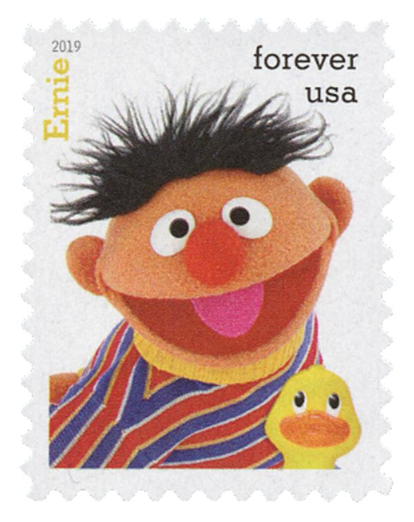 2019 First-Class Forever Stamp - Sesame Street: Ernie