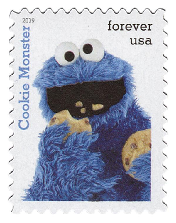 2019 First-Class Forever Stamp - Sesame Street: Cookie Monster