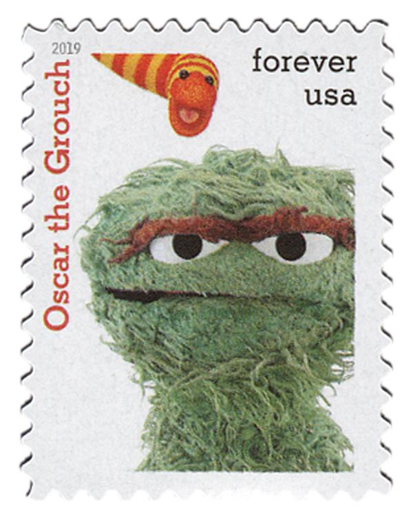 2019 First-Class Forever Stamp - Sesame Street: Oscar the Grouch