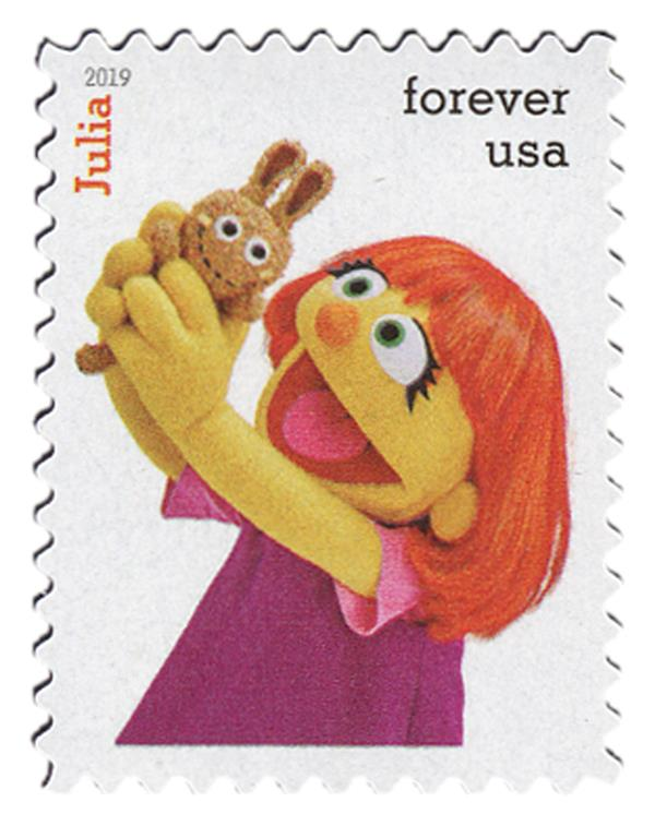 2019 First-Class Forever Stamp - Sesame Street: Julia