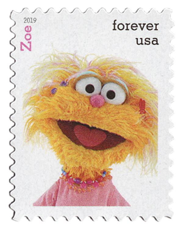 2019 First-Class Forever Stamp - Sesame Street: Zoe