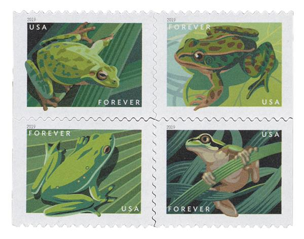 2019 First-Class Forever Stamp - Frogs