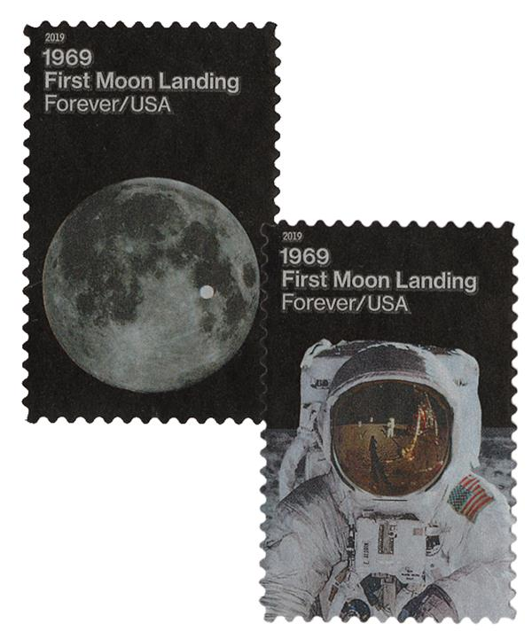 2019 First-Class Forever Stamp - First Moon Landing