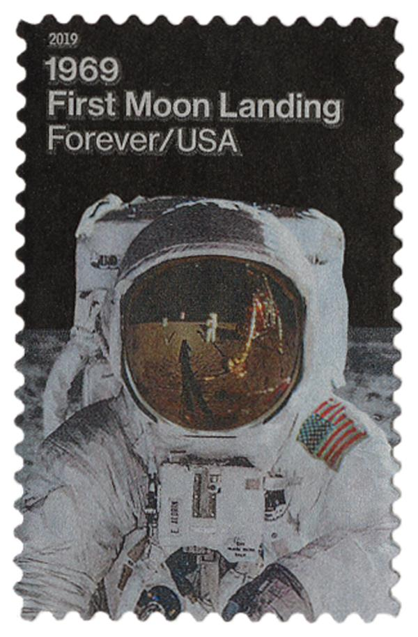 2019 First-Class Forever Stamp - First Moon Landing: Buzz Aldrin