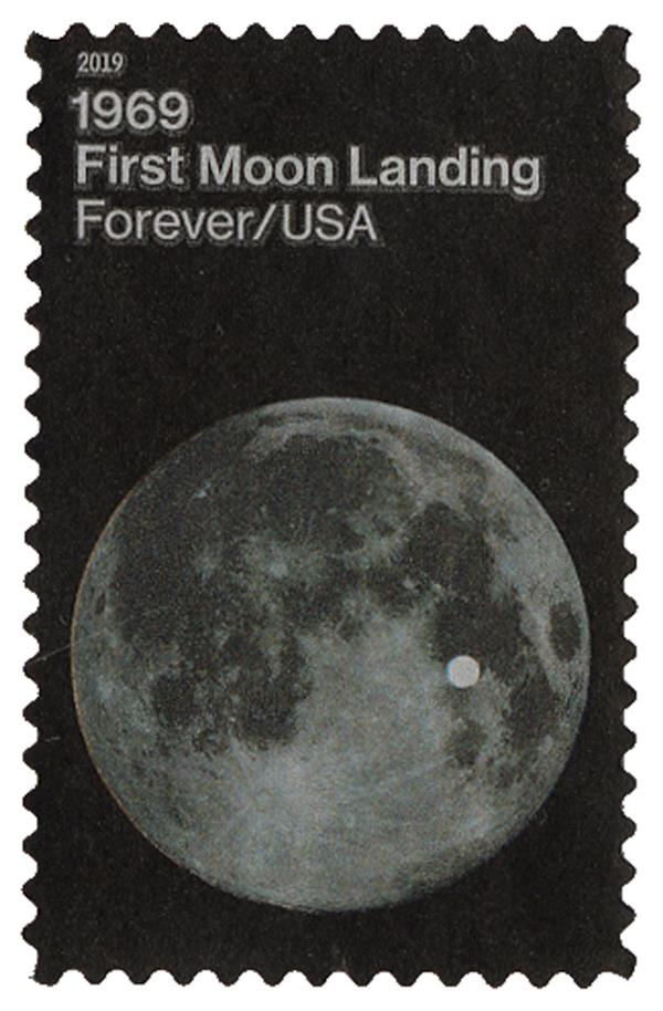 2019 First-Class Forever Stamp - First Moon Landing: The Moon