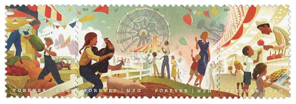 2019 First-Class Forever Stamp - State and County Fairs