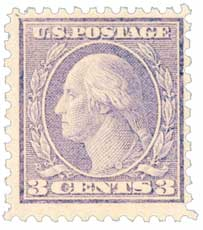 1919 3c Washington, violet, type II