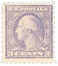 1919 3c Washington, violet, type II