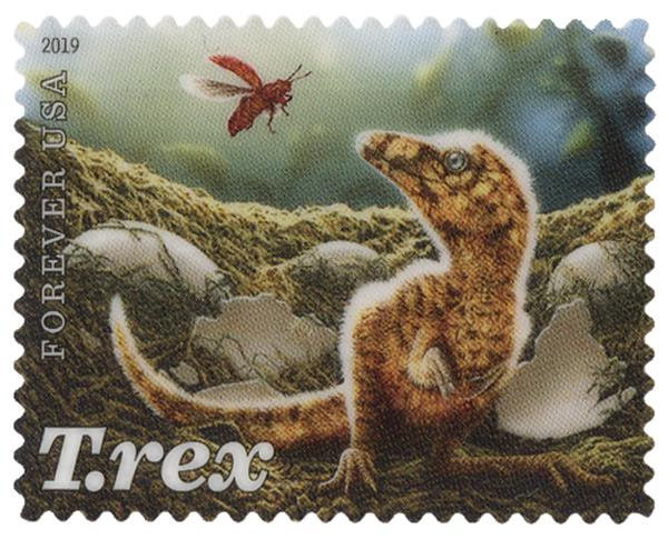 2019 First-Class Forever Stamp - T. Rex Hatchling