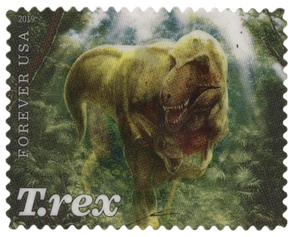 2019 First-Class Forever Stamp - Adult T. Rex in Clearing