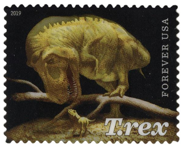 2019 First-Class Forever Stamp - T. Rex Fossil