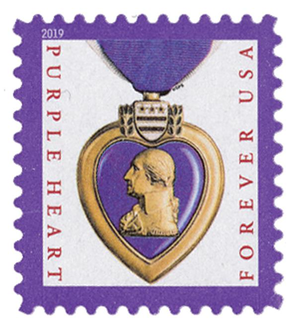 2019 First-Class Forever Stamp - Purple Heart