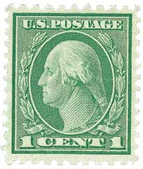 1920 1c Washington, green