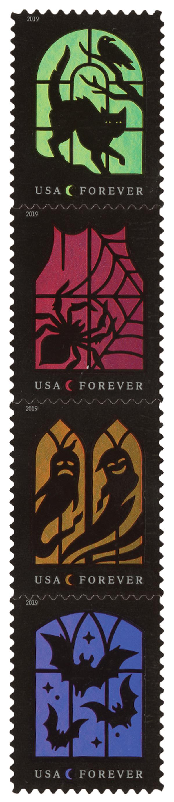 2019 First-Class Forever Stamp - Spooky Silhouettes