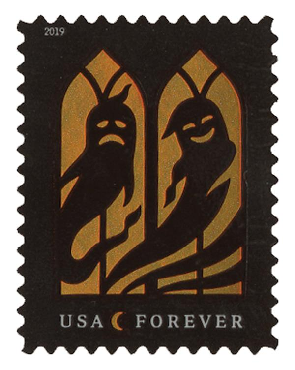 2019 First-Class Forever Stamp - Spooky Silhouettes: Ghosts