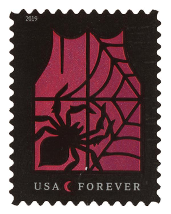 2019 First-Class Forever Stamp - Spooky Silhouettes: Spider and Web