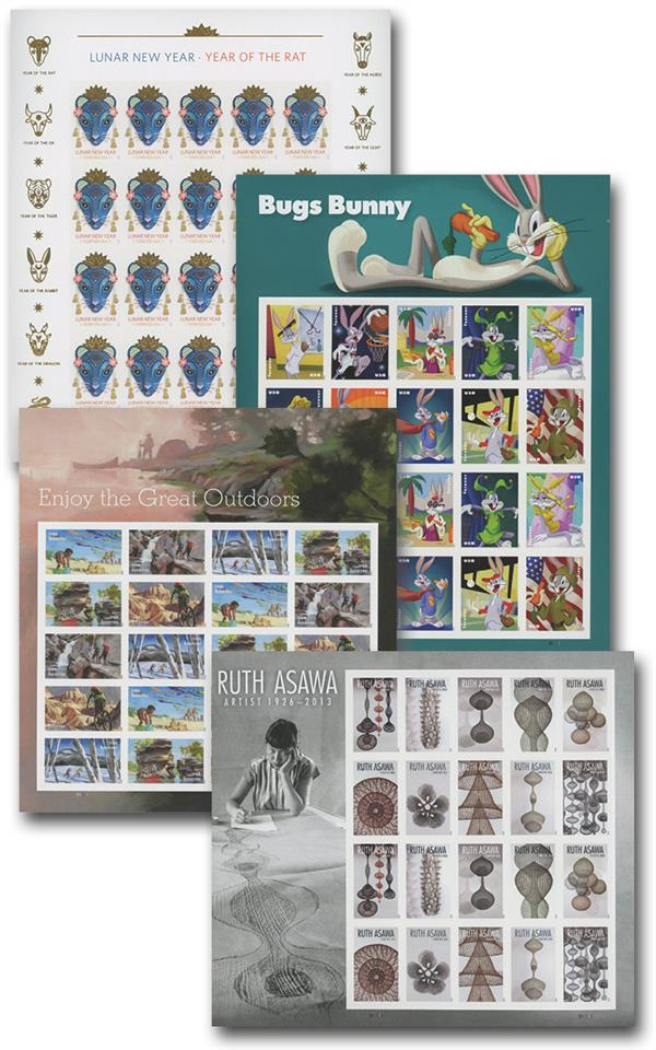 2020 Commemortive Sheets, Mint, Set of 4