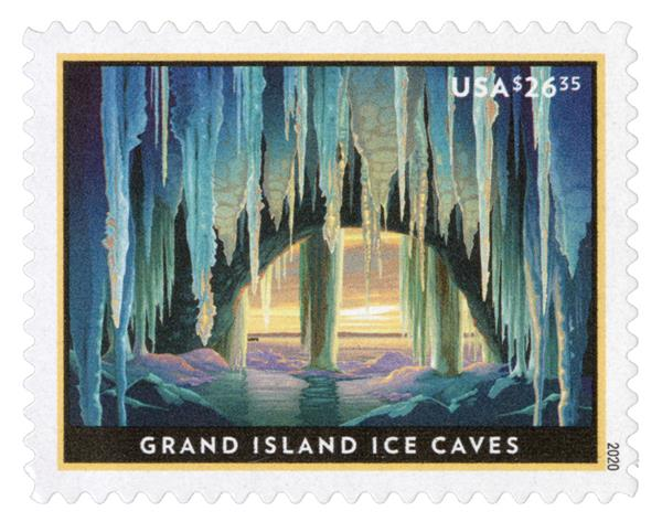 2020 $26.35 Grand Island Ice Caves, Express Mail