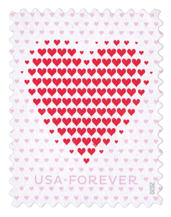 2020 First-Class Forever Stamp - Love Series: Made of Hearts